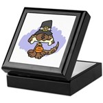 Thanksgiving Puppy Keepsake Box