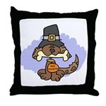 Thanksgiving Puppy Throw Pillow