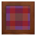 Purple Plaid Fractal Framed Tile