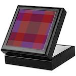 Purple Plaid Fractal Keepsake Box