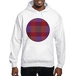 Purple Plaid Fractal Hooded Sweatshirt
