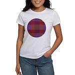 Purple Plaid Fractal Women's T-Shirt