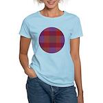 Purple Plaid Fractal Women's Light T-Shirt