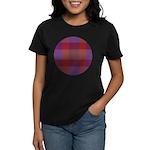 Purple Plaid Fractal Women's Dark T-Shirt