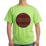 Purple Plaid Fractal Green T-Shirt