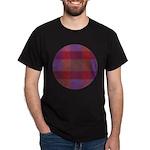 Purple Plaid Fractal Dark T-Shirt