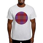 Purple Plaid Fractal Light T-Shirt