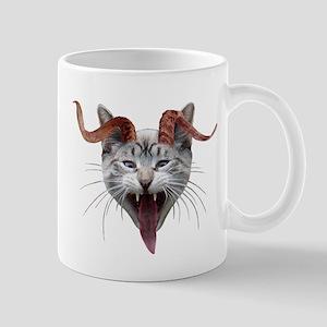 Krampus Cat Stainless Steel Travel Mugs