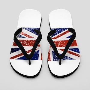 Grunge British Flag Flip Flops