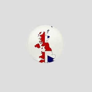 United Kingdom Map and Flag Mini Button