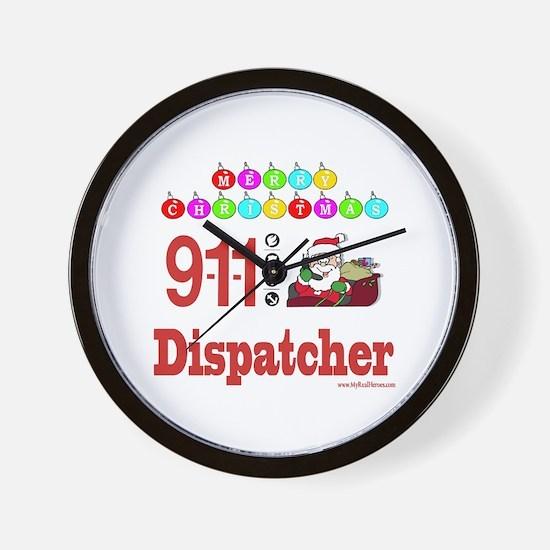 911 Dispatcher Christmas Gift Wall Clock