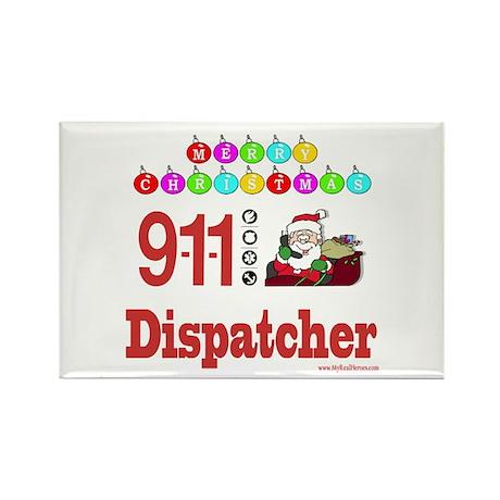 911 Dispatcher Christmas Gift Rectangle Magnet (10