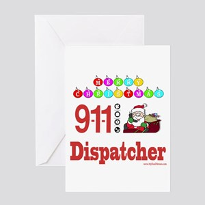 911 dispatcher holiday greeting cards cafepress 911 dispatcher christmas gift greeting card m4hsunfo