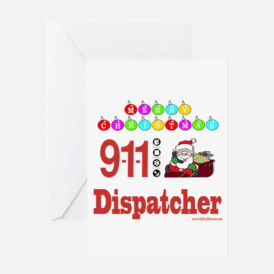 911 Dispatcher Christmas Gift Greeting Card