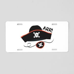 Pirate Arr Aluminum License Plate