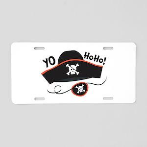 Yo Ho Ho Aluminum License Plate