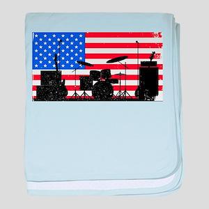 USA Rock Band baby blanket