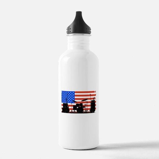 USA Rock Band Water Bottle