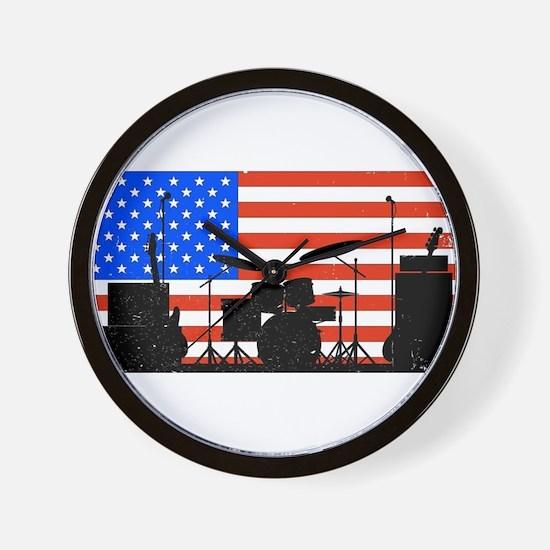 USA Rock Band Wall Clock