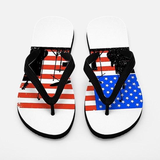 USA Rock Band Flip Flops