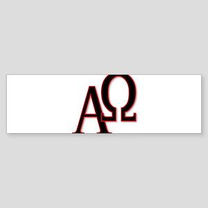 Alpha and Omega Bumper Sticker