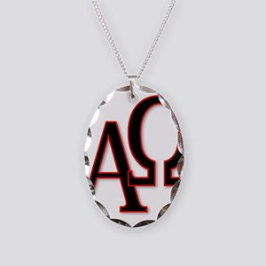 Alpha and Omega Necklace Oval Charm