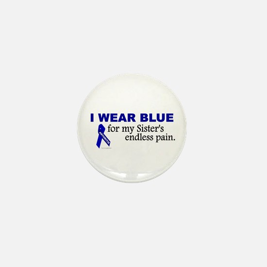I Wear Blue For My Sister's Pain Mini Button