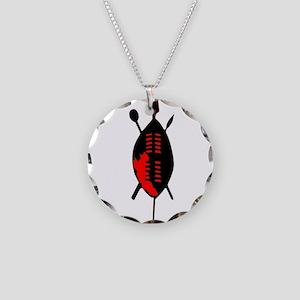Zulu Shield Necklace Circle Charm
