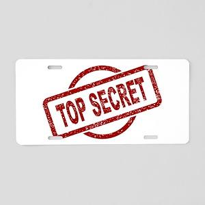 Top Secret Stamp Aluminum License Plate