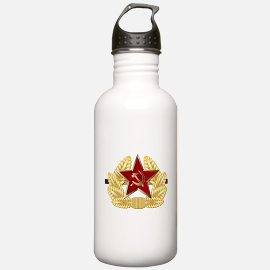 Soviet Cap Badge Water Bottle
