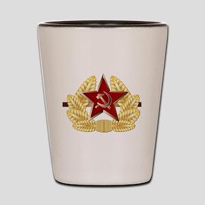 Soviet Cap Badge Shot Glass