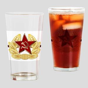 Soviet Cap Badge Drinking Glass