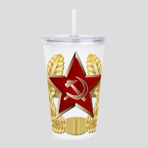 Soviet Cap Badge Acrylic Double-wall Tumbler