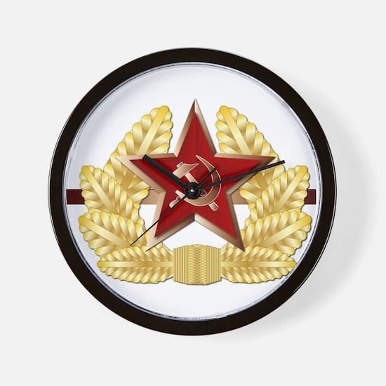 Soviet Cap Badge Wall Clock