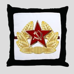 Soviet Cap Badge Throw Pillow