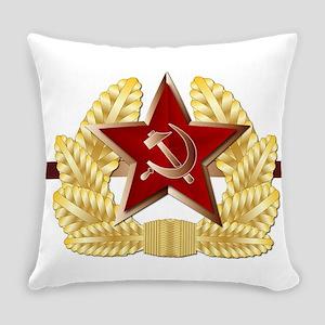Soviet Cap Badge Everyday Pillow