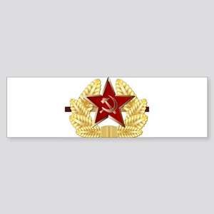 Soviet Cap Badge Bumper Sticker