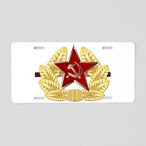 Soviet Cap Badge Aluminum License Plate