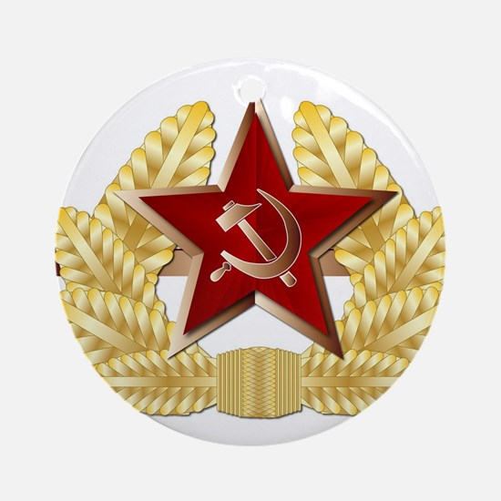 Soviet Cap Badge Round Ornament