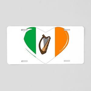 Irish Flag Heart Aluminum License Plate