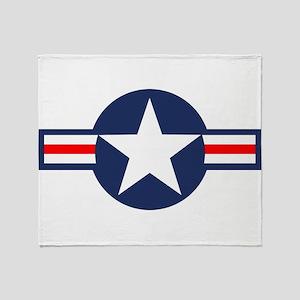USAF Markings Throw Blanket