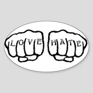 Love Hate Tattoo Sticker