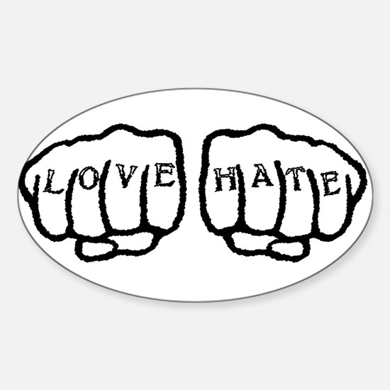 Love Hate Tattoo Decal