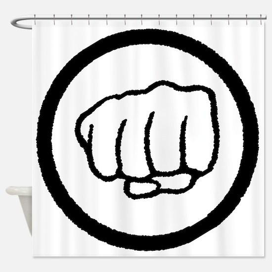 Fist Shower Curtain