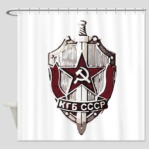 KGB Badge Shower Curtain