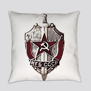 KGB Badge Everyday Pillow
