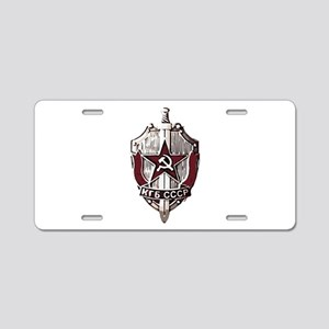 KGB Badge Aluminum License Plate