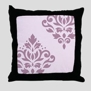 Scroll Damask Art I MP Throw Pillow