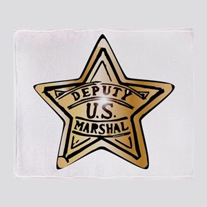 Deputy US Marshal Star Throw Blanket
