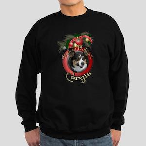 Christmas - Deck the Halls - Corgi Sweatshirt